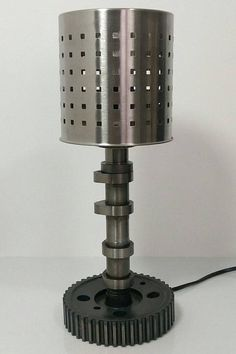 Hey, I found this really awesome Etsy listing at https://www.etsy.com/listing/550020622/lamp-built-with-recycled-car-engine