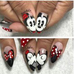 Ideas For Nails Disney Mickey Disney Nail Designs, Nail Art Designs, Holiday Nails, Christmas Nails, Disneyland Nails, Mickey Nails, Trendy Nails, Love Nails, Nails Inspiration
