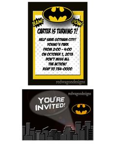 Batman Invitation Digital File