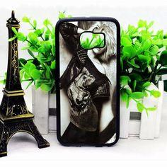 Scarlett Johansson Black White Samsung S6 Edge Plus Cases haricase.com