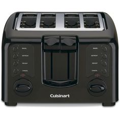 Cuisinart presents two toasters in one  Two separate touch pads let you toast a variety of breads at the same time  Streamlined compact 4-slice toaster is smooth with all curves and no angles