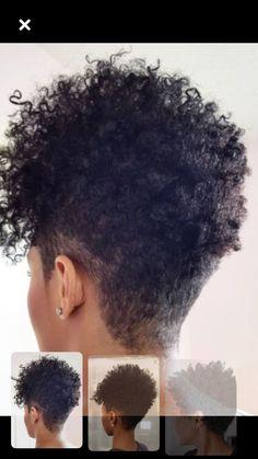 Natural Hair Short Cuts, Short Natural Haircuts, Tapered Natural Hair, Short Curly Hair, Short Hair Cuts, Curly Hair Styles, Natural Hair Styles, Twisted Hair, Shaved Hair Designs
