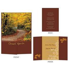 fall wedding invitations   Fall Wedding Invitations