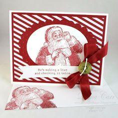 Stampin' Up! Christmas Card - Santa's List