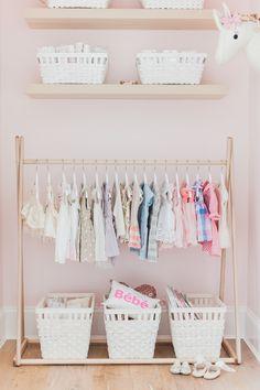 Girl Nursery closet | Lillya's Nursery | http://monikahibbs.com