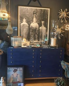 This custom chalk painted dresser can be separated and used as two pieces! With beautiful etched nickel pulls, this piece is one of a kind! Chalk Paint Dresser, Home Goods, The Originals, Painting, Furniture, Beautiful, Home Decor, Homemade Home Decor, Painting Art