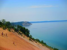 This is a 450 ft dune at Sleeping Bear Dunes National Lakeshore. Breathtaking views!