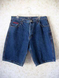83ece93b6be33 US Polo Assn Denim Jean Shorts Long Board Shorts Cargo Carpenter Hip Hop  Red Stitching Cotton Retro Hipster Mens 36 Waist