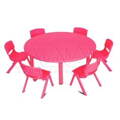 PLASTIC MOULDED ROUND TABLE – RED COLOUR