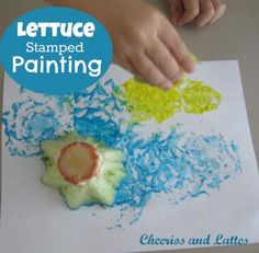 Cheerios and Lattes - http://www.cheeriosandlattes.com/lettuce-stamped-painting/