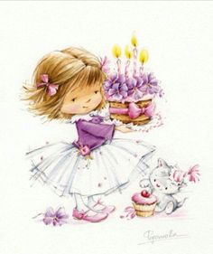 FEECHKI (pictures for decoupage) - Decoupage - Country Mom Birthday Greetings, Birthday Wishes, Happy Birthday, Girl Birthday, Decoupage, Cute Images, Cute Pictures, Art Mignon, Cute Clipart