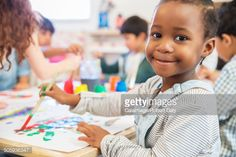 Stock Photo : Student painting in class