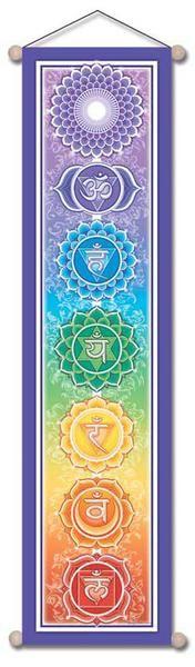 Large Cloth Chakra Yoga Zen Wall Hanging Banner