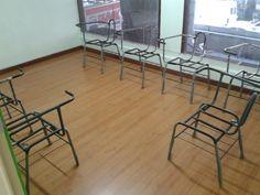 As futuras cadeiras na Sala Flamengo