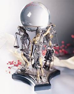 Lawyer Gift--Here it is! A Best-selling Gift for Attorneys & Judges--Justice w/Crystal Globe
