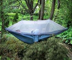Netted Cocoon Hammock $99.95 - Keeps the mosquitos out while you lounge around