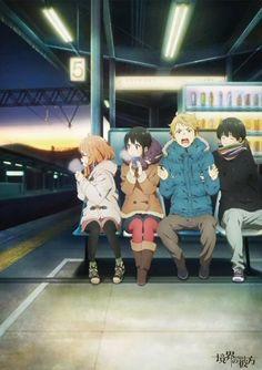 Kyoukai no kanata, Mirai, Akihito, Mitsuki, Hiroomi
