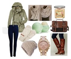 """""""Fall Campus Tour"""" by snyder-gabrielle ❤ liked on Polyvore featuring Free People, ONLY, Eos, MICHAEL Michael Kors, Bench and KISS by Fiona Bennett"""