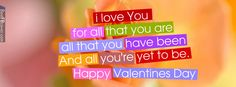 Happy Valentines Day Quotes Facebook Cover