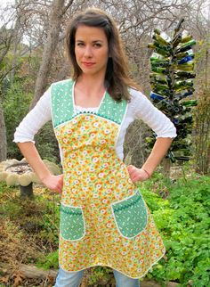 You Need Another Apron Apron - Spring Cleaning - Vintage Everyday Housewife Apron - small to medium