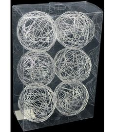 Silver Decorative Balls 12 Silver Wire Decorative Balls 25In Set Of 12  Banquet Tables