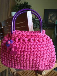 Bolso de trapillo rosa/lila para Nati C/13-07-01B