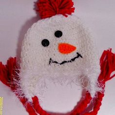 Baby Snowman Hat Crochet Photo Prop Boy Girl 0-6 m. 6-12 m. 1-3 years. 4+ years. Christmas Gift Shower Gift Winter Clothing Warm
