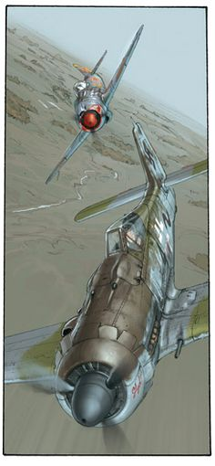 aviation art by Romain Hugault