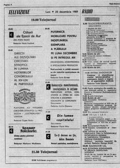 asa arata un program TV la comunisti Romania, Childhood Memories, The Past, Old Things, Bullet Journal, Tv, My Love, Vintage Illustrations, Spaces
