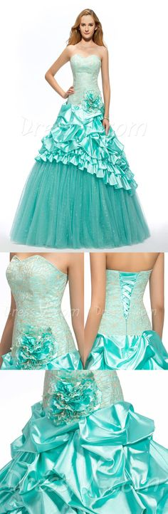 Designed by DressV and brokered exclusively to you by Canagrill Trading Inc. Visit my portal for amazing discount info. Quinceanera Dresses, Teal Prom Dresses, Strapless Dress Formal, Formal Dresses, Wedding Dresses, Plus Size Gowns, Dress Vestidos, Wedding Veil, Dress Collection