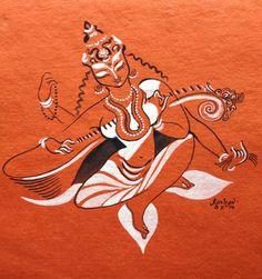 Saraswati. #Deviseries by Keshav Venkataraghavan