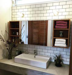 piecestyleさんはInstagramを利用しています:「・ GENBA 広めなラグジュアリーな ホテル仕様の洗面台の 天板はモルタル仕上げ ・ カッコ良くできやした ・ ・…」