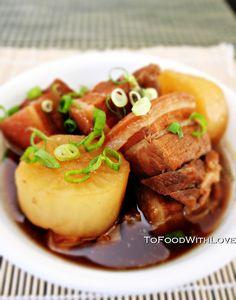 To Food with Love: Buta No Kakuni (Japanese Braised Pork Belly)