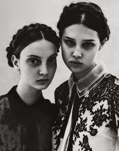 Anais Pouliot and Codie Young in Grey #5 F/W 2011 by Chadwick Tyler