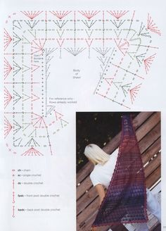 Image Article – Page 516014069804106266 Freeform Crochet, Crochet Diagram, Crochet Shawl, Crochet Stitches, Knit Crochet, Crochet Patterns, Front Post Double Crochet, Crochet Curtains, Crochet Accessories
