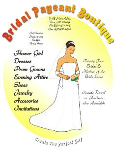 Corel Draw 12 Bridal Pageant Boutique Flyer #coreldraw