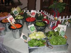 diy- salad bar (perfect for special occasions!)
