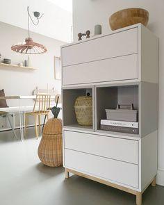 Ikea Living Room, Ikea Bedroom, Ikea Office Storage, Ikea Eket, Ikea Inspiration, Teen Room Decor, Apartment Design, Home And Living, Home Furniture