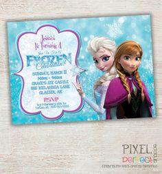 Girls Frozen Birthday Invitation Frozen by CustomPartyCards, $10.00