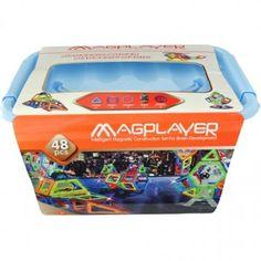 Joc de constructie magnetic - 48 piese Magnets, Decorative Boxes, Home Decor, Playmobil, Decoration Home, Room Decor, Home Interior Design, Decorative Storage Boxes, Home Decoration