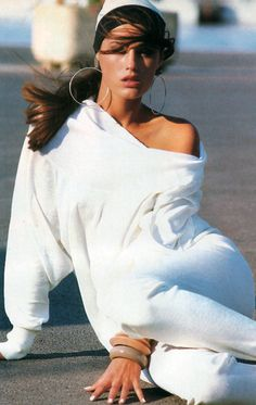 Model Yasmeen Lebon, Bill King for American Vogue, December 1986.
