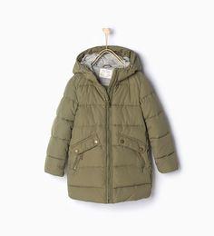 ZARA - KIDS - Quilted coat with hood