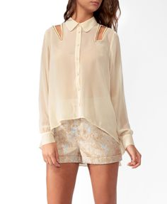 High-Low Studded Cutout Shirt from Forever 21 [only $22]
