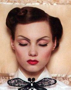 vintage makeup: Modern Take