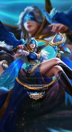 Wallpaper Phone Pharsa Indigo Aviatrix by FachriFHR on DeviantArt Magic Mobile, Moba Legends, Wallpaper Quotes, Wallpaper Desktop, Galaxy Wallpaper, Girl Wallpaper, Disney Wallpaper, Wallpaper Backgrounds, Mobile Legend Wallpaper