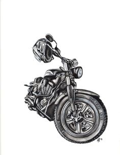 Custom Pencil Drawing  - Custom Vehicle, Car, Bike, Motorcycle, Boat - Various Sizes  by Imago Custom Artwork