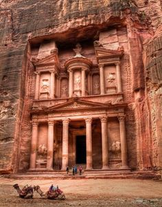 Petra, Jordan. Second-century town carved out of a mountainside