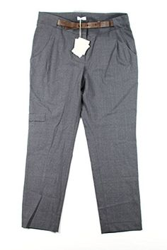 Brunello Cucinelli Womens Dress Pants Size 8 Regular Grey Virgin Wool * More info could be found at the image url.