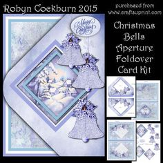 "Christmas Bells Aperture Foldover Card Kit on Craftsuprint designed by Robyn Cockburn - A pretty foldover card with an aperture and decoupage layers. Kit contains card insert, card cover, decoupage and greeting labels. Step by step instructions are included. Card is approx. 5"" x 7"" when closed. - Now available for download!"