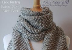 An elegant free beginner scarf knitting pattern that features an easy seed stitch design. Perfect for men, women, and kids.